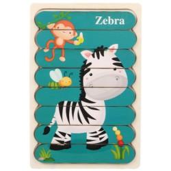 Puzzle patyczkowe Zebra