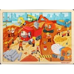 Puzzle Drewniane Na Budowie...