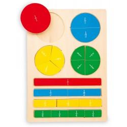 Nauka ułamków-puzzle