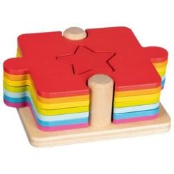 Puzzle drewniane dopasuj...